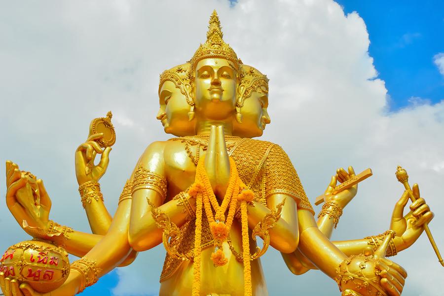 Indian god of Brahma, Art of statue